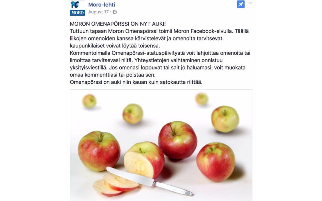 Omenoita vaikka muille jakaa!